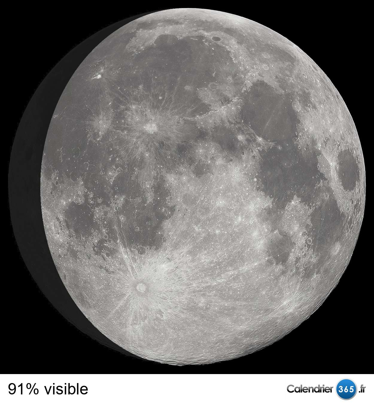 pleine lune sur calendrier noire ou blanche
