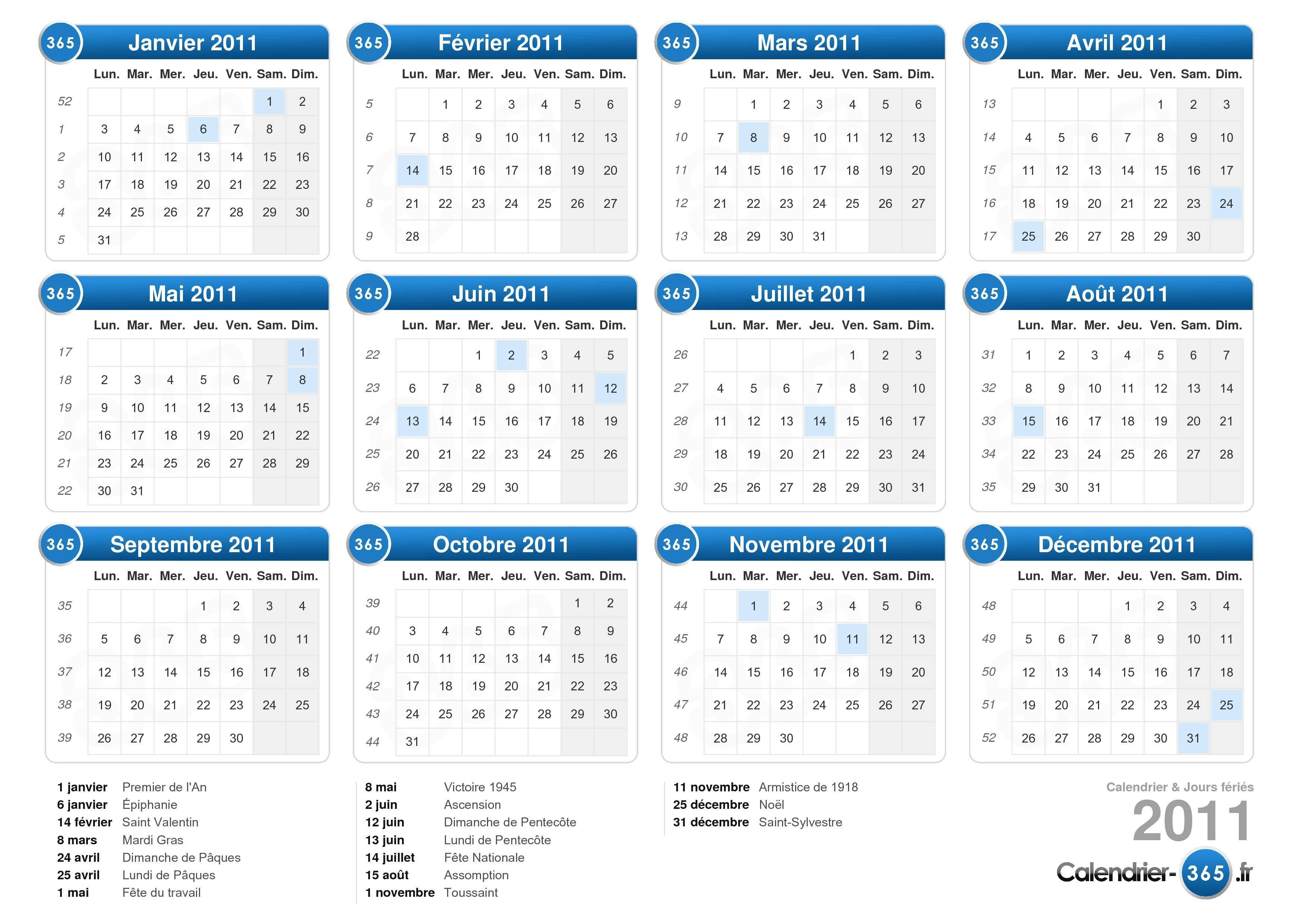 calendrier 2011 lunaire