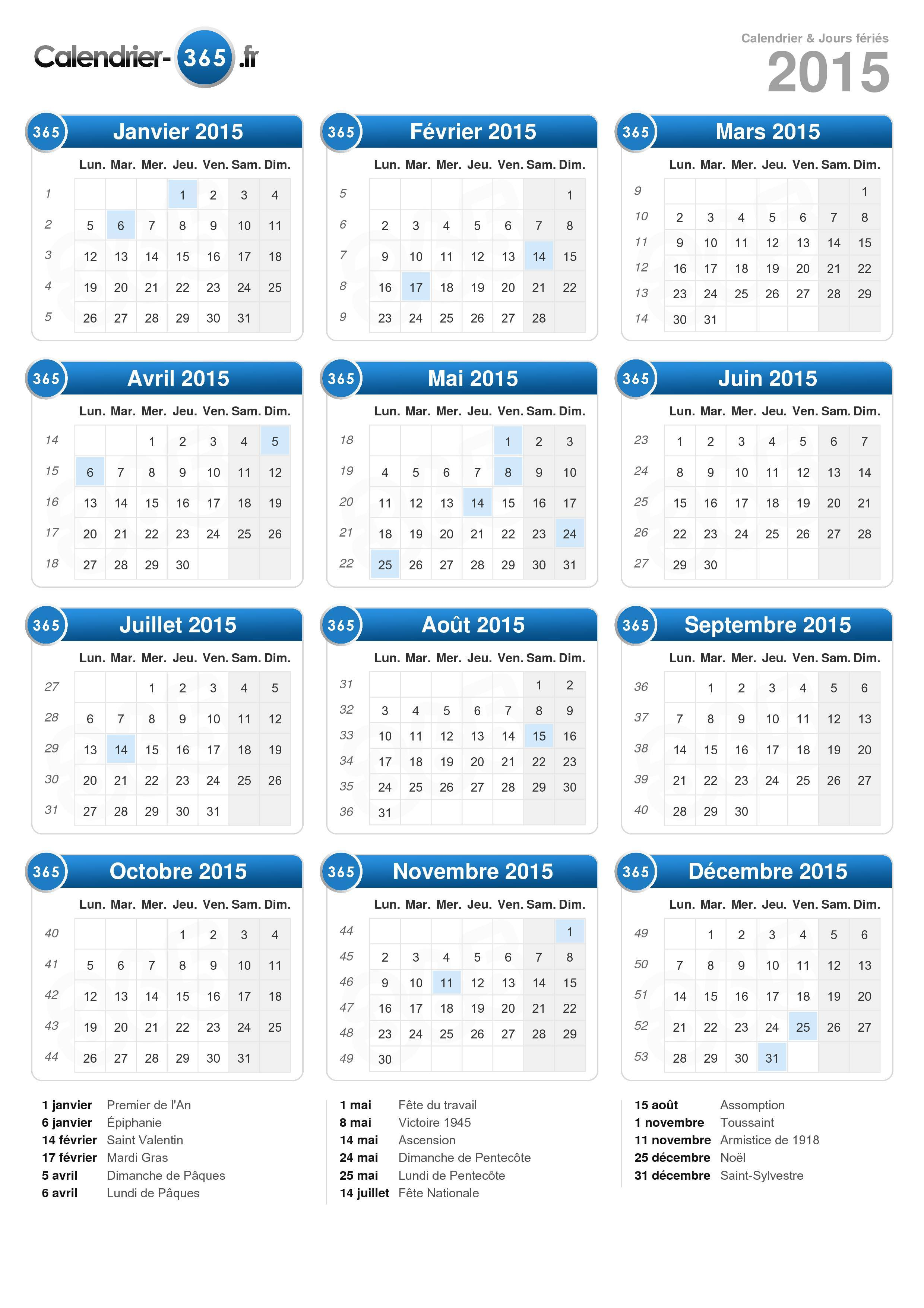 Images Blog: CALENDRIER 2015