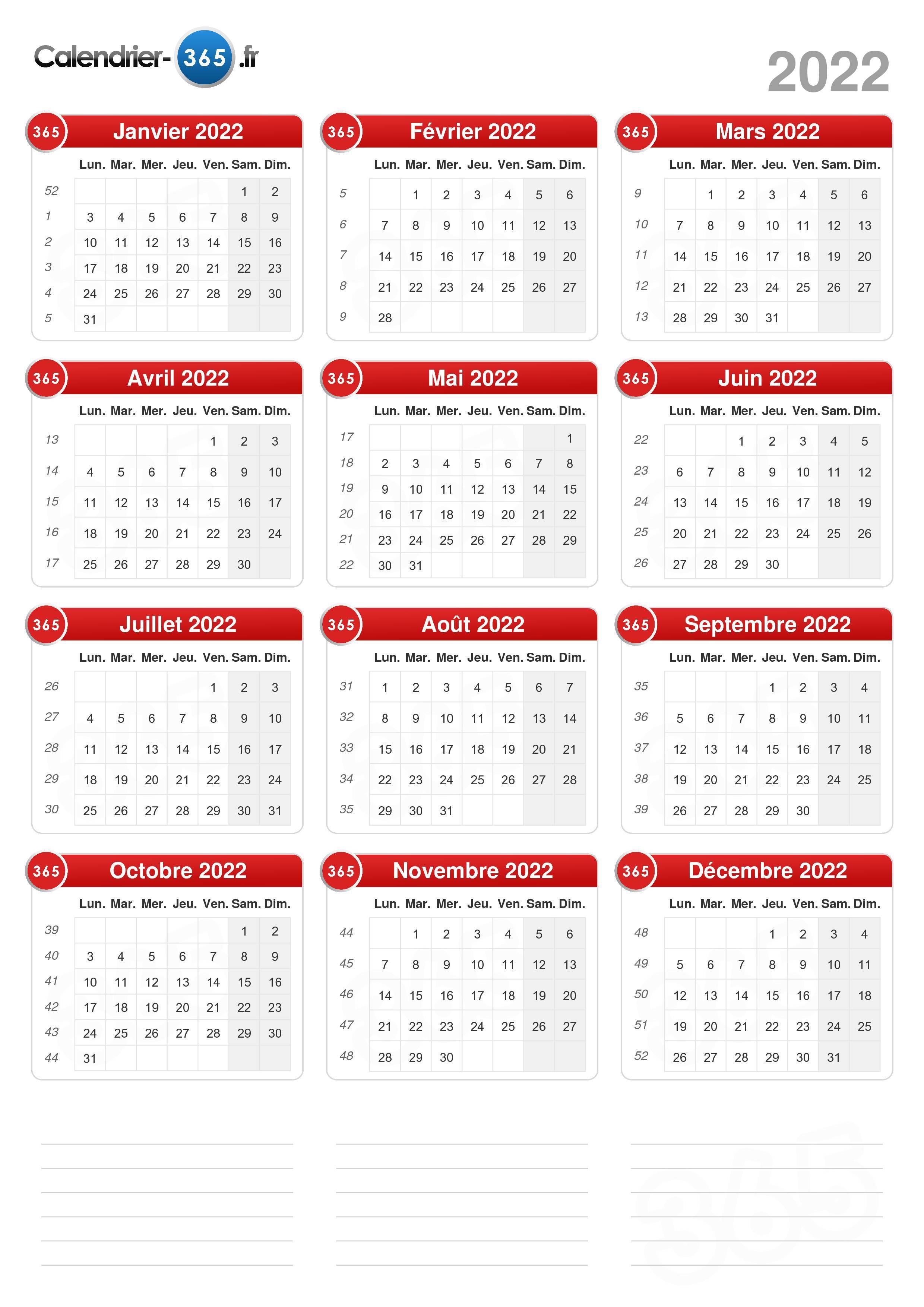 Calendrier 2022 20 Calendrier 2022