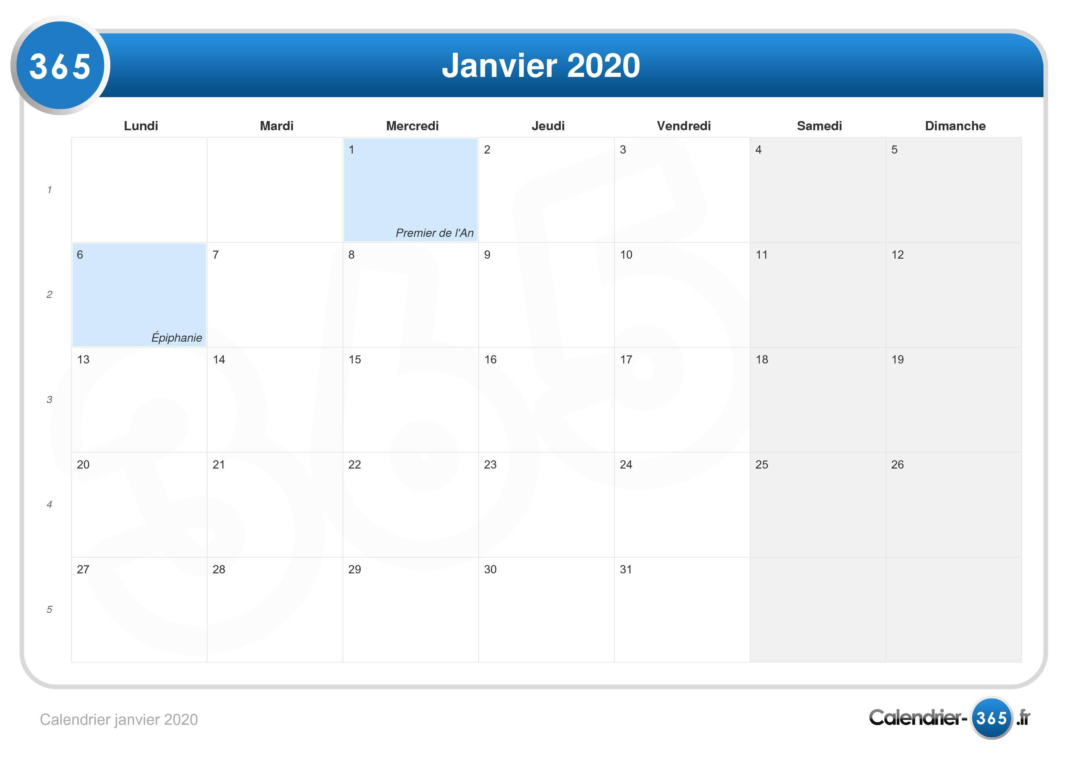 Salon Villepinte Calendrier 2020.Calendrier Janvier 2020